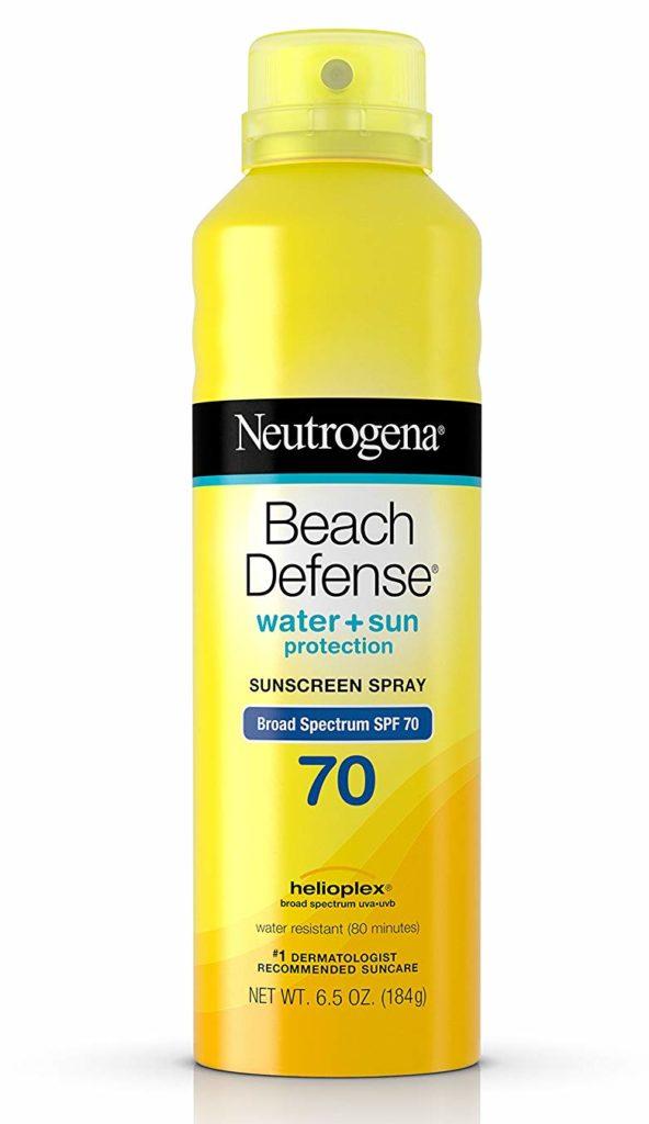 Neutrogena Beach Defense Body Spray Sunscreen with Broad Spectrum SPF 70