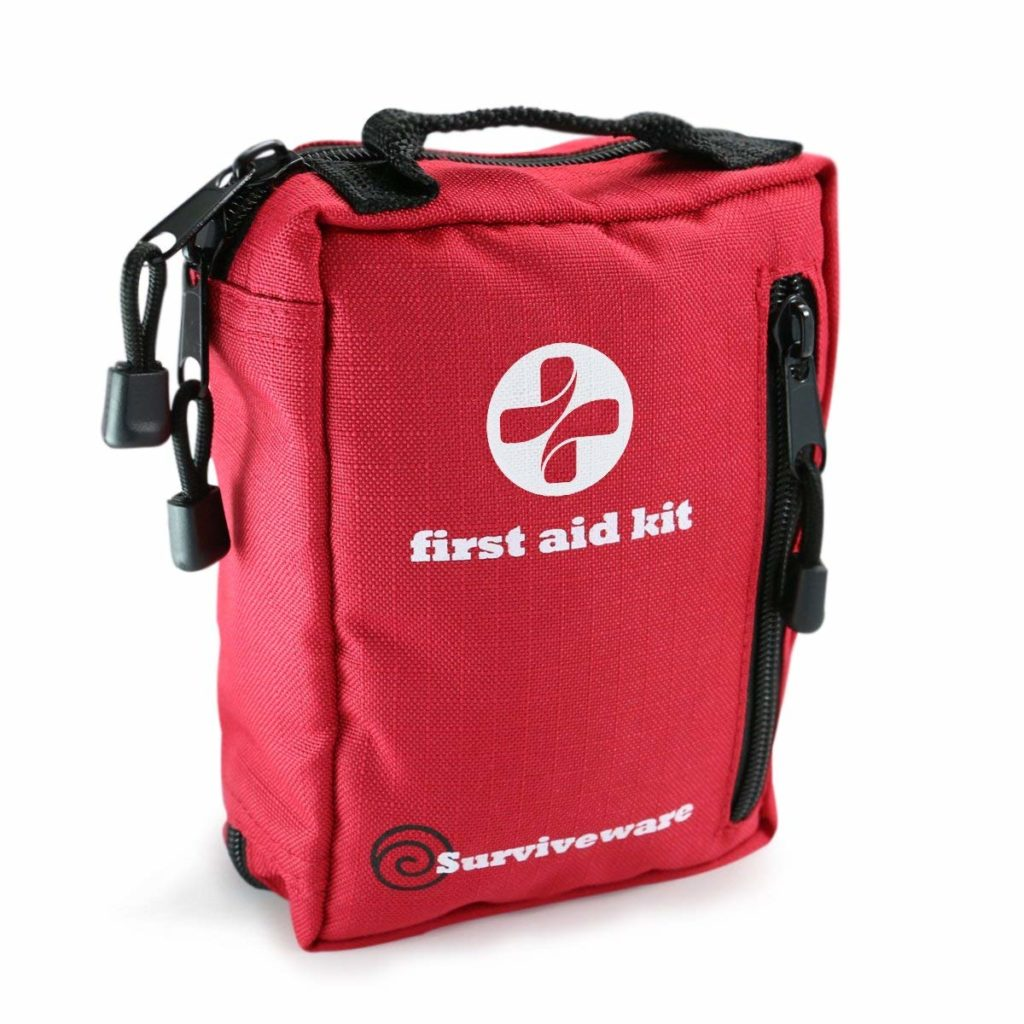 Small First Aid Kit for Hiking, Backpacking, Camping, Travel, Car, Cycling